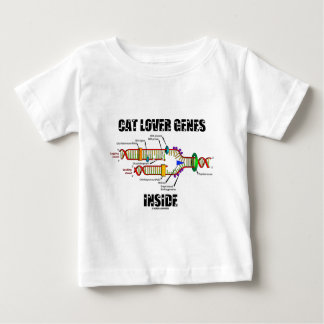 Cat Lover Genes Inside (DNA Replication) Baby T-Shirt