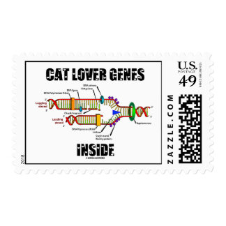 Cat Lover Genes Inside (DNA Replication) Stamp