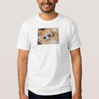 Cat Lover Gift Orange Cat Face Portrait Fine Art T-shirt