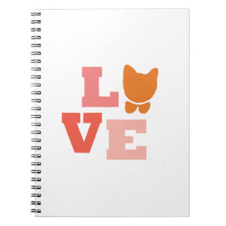 Cat Lover Gifts Spiral Notebook