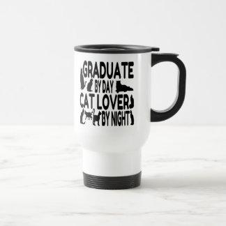 Cat Lover Graduate 15 Oz Stainless Steel Travel Mug