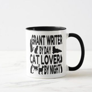 Cat Lover Grant Writer Mug