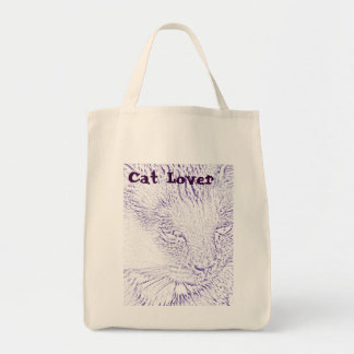 Cat Lover Grocery Tote Tote Bags