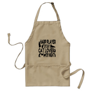 Cat Lover Harp Player Aprons