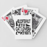Cat Lover Helicopter Pilot Bicycle Playing Cards