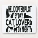Cat Lover Helicopter Pilot Mouse Pad