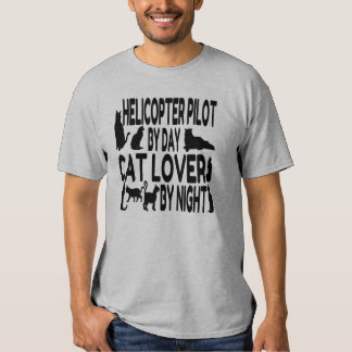 Cat Lover Helicopter Pilot Tee Shirt