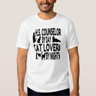 Cat Lover High School Counselor Tee Shirt