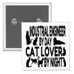 Cat Lover Industrial Engineer Pins