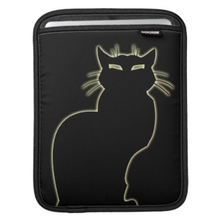 Cat Lover iPad Sleeve Black Cat Art iPad Sleeve