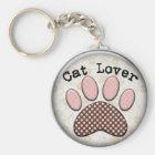 cat lover key chain