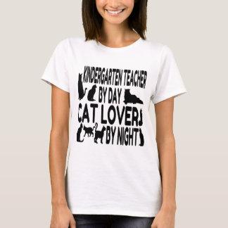 Cat Lover Kindergarten Teacher T-Shirt