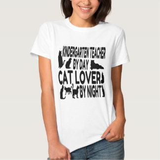 Cat Lover Kindergarten Teacher Tee Shirt