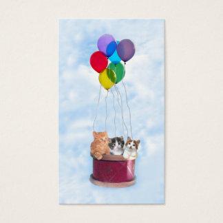 Cat Lover Kittens Hot Air Balloon Business Card