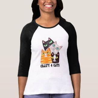 Cat Lover Lady's Jersey, Raglan T-Shirt