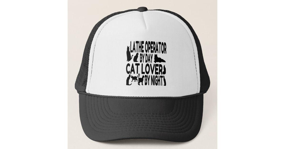 Cat Lover Lathe Operator Trucker Hat  3d2546e087e