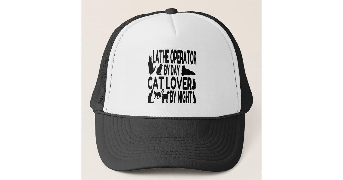 Cat Lover Lathe Operator Trucker Hat  3d2546e087e