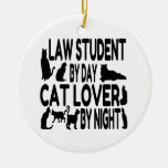 Cat Lover Law Student Ceramic Ornament