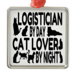 Cat Lover Logistician Christmas Ornaments