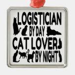 Cat Lover Logistician Metal Ornament