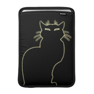 Cat Lover Macbook Sleeve Black Cat Art iPad Sleeve