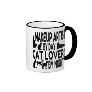 Cat Lover Makeup Artist Ringer Mug