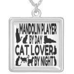 Cat Lover Mandolin Player Custom Jewelry