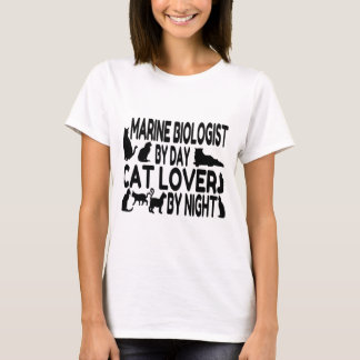 Cat Lover Marine Biologist T-Shirt
