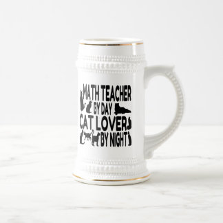 Cat Lover Math Teacher Beer Stein