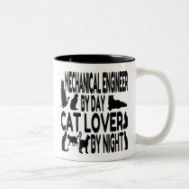 Cat Lover Mechanical Engineer Two-Tone Coffee Mug