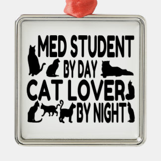 Cat Lover Med Student Metal Ornament