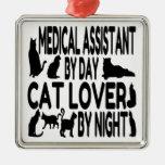 Cat Lover Medical Assistant Metal Ornament