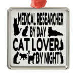 Cat Lover Medical Researcher Christmas Ornaments