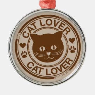Cat Lover Metal Ornament