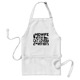 Cat Lover Midwife Adult Apron