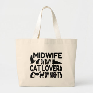 Cat Lover Midwife Large Tote Bag