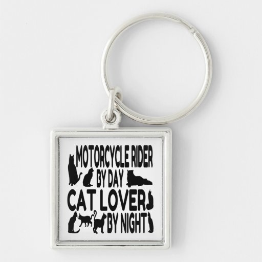 Cat Lover Motorcycle Rider Key Chain