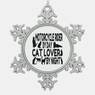 Cat Lover Motorcycle Rider Ornaments