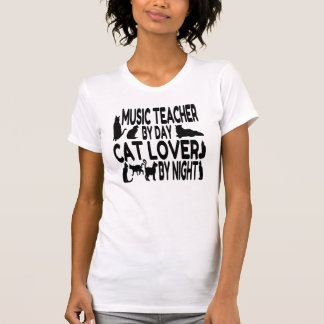 Cat Lover Music Teacher T-Shirt