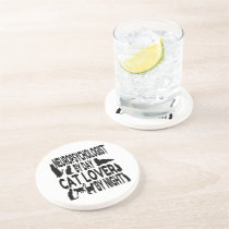 Cat Lover Neuropsychologist Drink Coaster