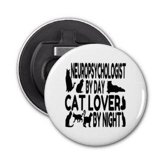 Cat Lover Neuropsychologist Button Bottle Opener