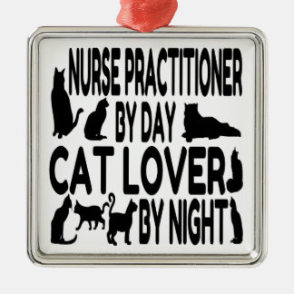 Cat Lover Nurse Practitioner Metal Ornament