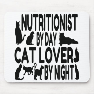 Cat Lover Nutritionist Mouse Pad