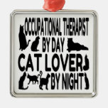 Cat Lover Occupational Therapist Christmas Ornament