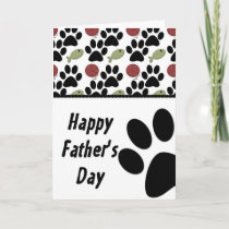 Cat Lover/Paw Print Happy Father's Day Card