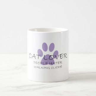 Cat Lover People Hater Walking Cliche Coffee Mug