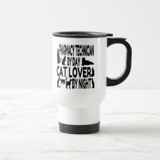 Cat Lover Pharmacy Technician 15 Oz Stainless Steel Travel Mug