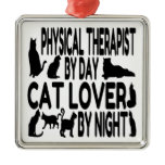 Cat Lover Physical Therapist Metal Ornament