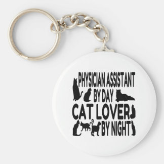 Cat Lover Physician Assistant Basic Round Button Keychain