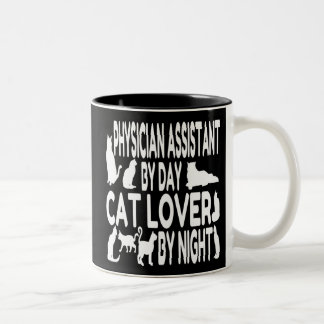 Cat Lover Physician Assistant Two-Tone Coffee Mug